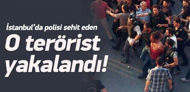Polisi şehit eden terörist yakalandı