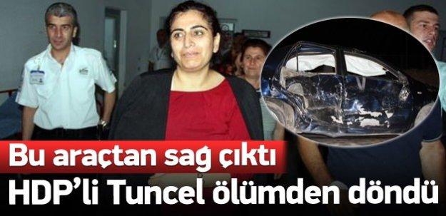 Sebahat Tuncel trafik kazası geçirdi