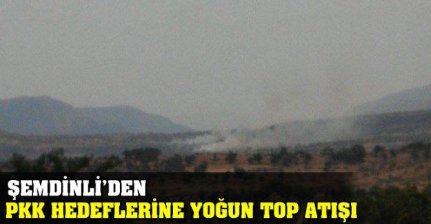 Şemdinli'den PKK hedeflerine yoğun top atışı