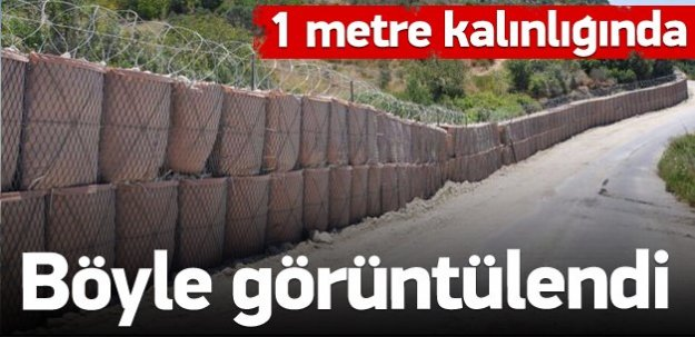 Sınıra roketatara dayanıklı duvar