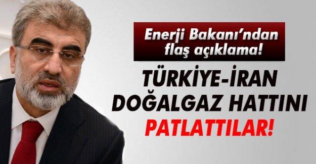 Taner Yıldız: ' Türkiye-İran Doğalgaz Boru Hattı'nı sabotaj düzenleyerek patlattılar'