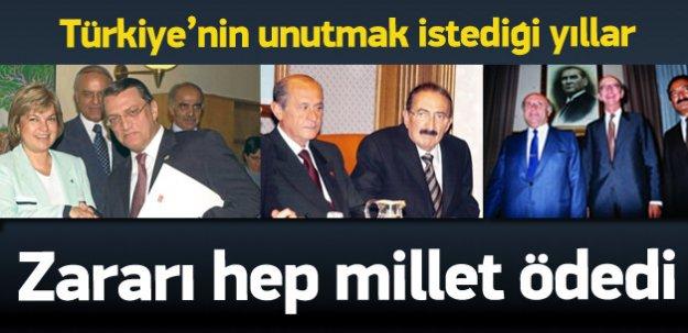 Türkiye'de koalisyon hükümeti zamanları
