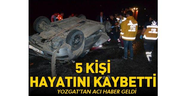 Yozgat'ta trafik kazası: 5 ölü