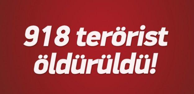 22 Temmuz'dan bu yana 918 terörist öldürüldü