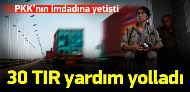 30 TIR ile PKK'nın imdadına yetişti