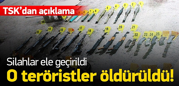 5 terörist öldürüldü