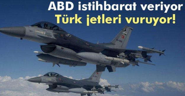 ABD istihbarat veriyor, Türk jetleri mevzileri vuruyor