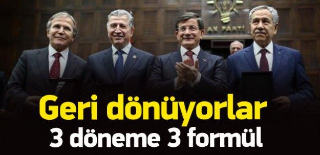 AK Parti'den üç döneme üç formul