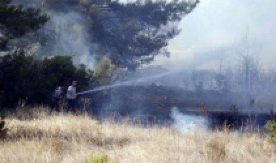 Antalya'da 5 dönümlük orman alanı yandı