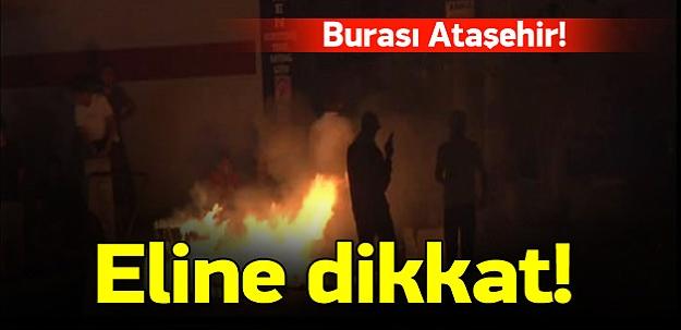 Ataşehir'de PKK yandaşları olay çıkardı