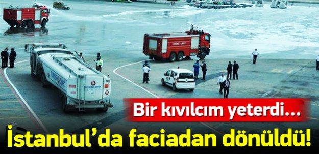 Atatürk Havalimanı'nda facianın eşiğinden dönüldü!