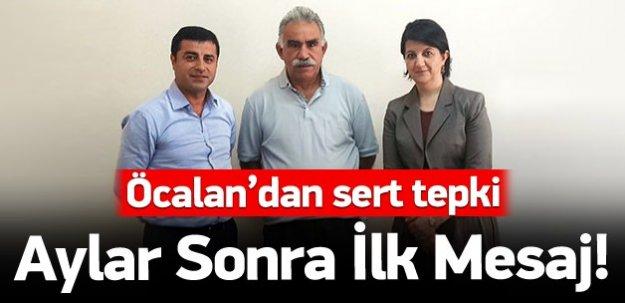 Aylar sonra Öcalan'dan ilk mesaj