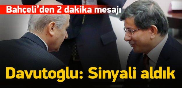 Bahçeli'den Davutoğlu'na destek sinyali