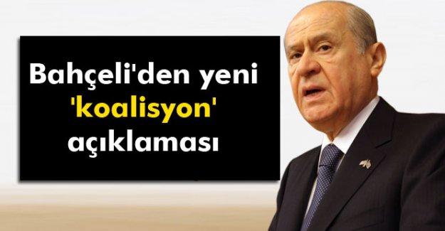 Bahçeli'den yeni 'koalisyon' açıklaması