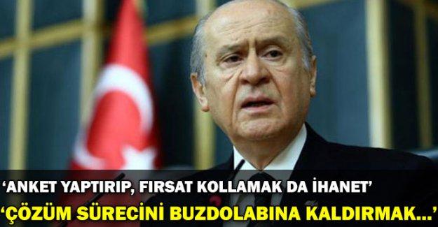 Bahçeli, Erdoğan'ın çözüm sürecine ilişkin sözlerini değerlendirdi