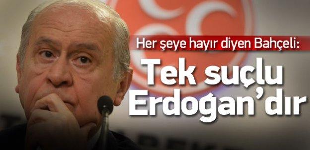 Bahçeli: Seçimin tek suçlusu Erdoğan'dır