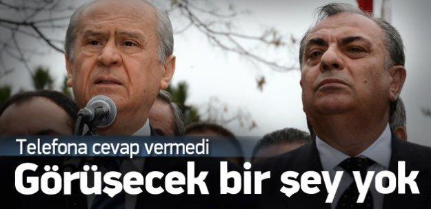Bahçeli Türkeş'in telefonuna cevap vermedi