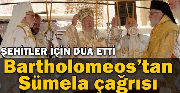 Bartholomeos'tan Sümela çağrısı