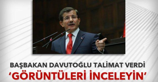 Başbakan Davutoğlu'ndan görüntüleri 'inceleyin' talimatı
