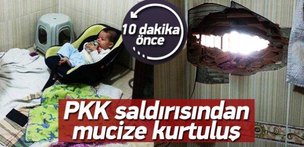 Bebek PKK'nın saldırısından mucize eseri kurtuldu