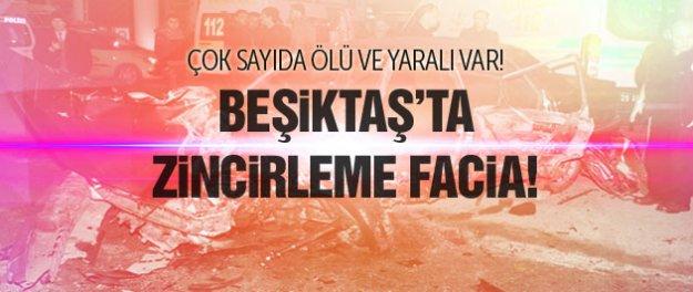 Beşiktaş'ta zincirleme kaza! Çok sayıda ölü yaralı...
