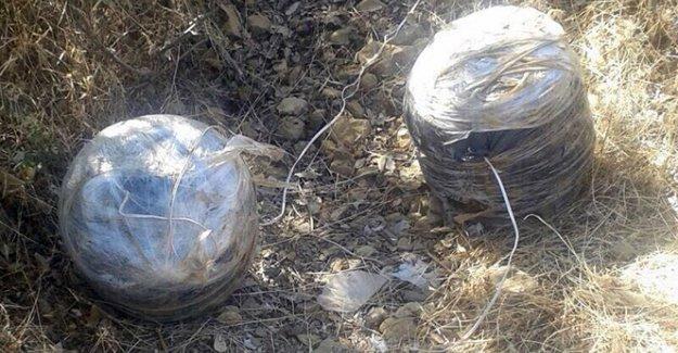 Birbirine tuzaklanan 2 bomba imha edildi