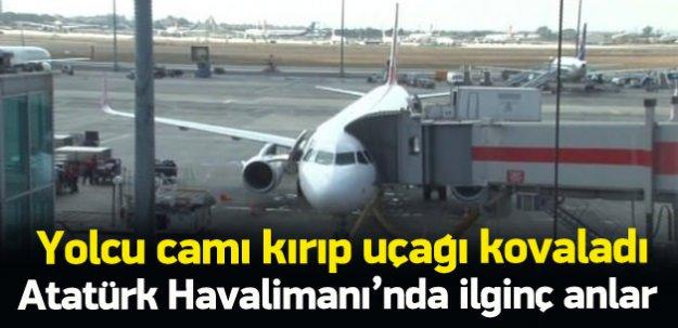 Cezayirli yolcu uçağın peşinden koştu