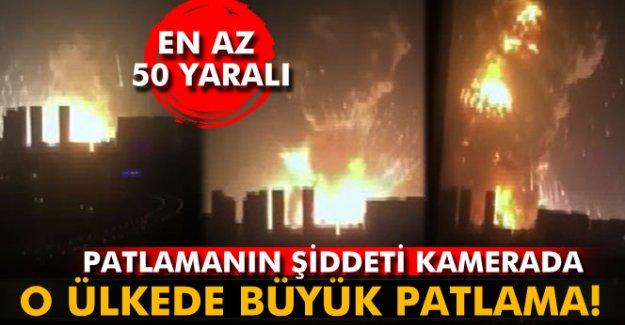 Çin'de petrol depolama istasyonunda patlama!