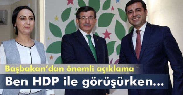 Davutoğlu: Ben HDP ile görüşürken...