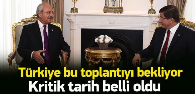 Davutoğlu Kılıçdaroğlu görüşmesi Perşembe günü