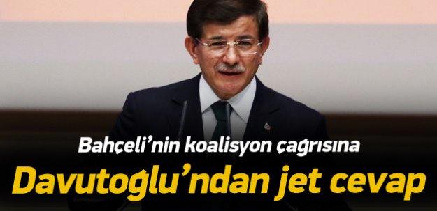 Davutoğlu'ndan Bahçeli'ye jet cevap