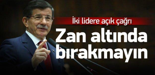 Davutoğlu'ndan iki lidere açık çağrı