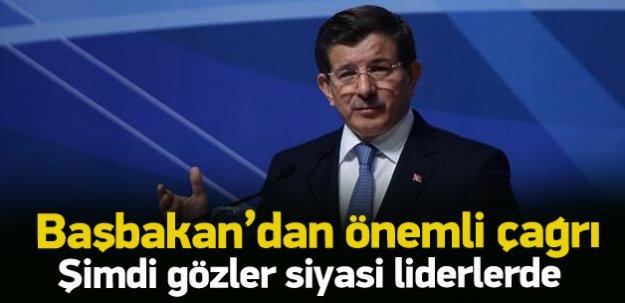 Davutoğlu'ndan parti liderlerine önemli çağrı