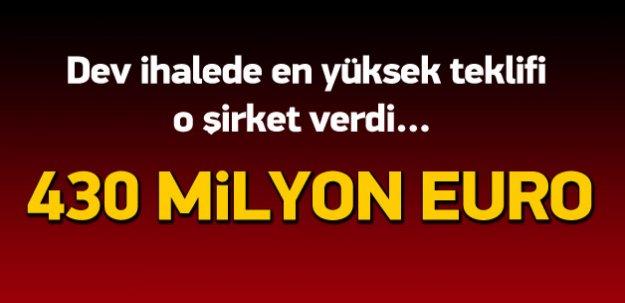 Dev ihalede en yüksek teklifi Turkcell verdi