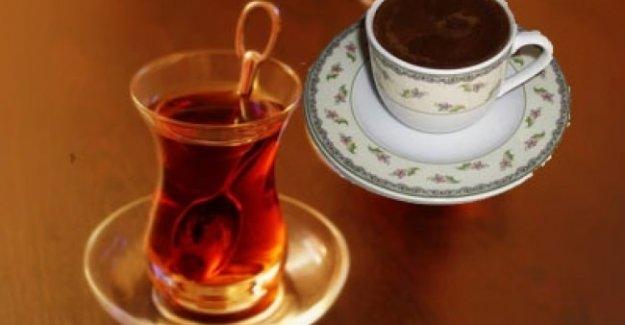 Dikkat! Çay,kahve ve asitli içecekler...