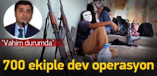 Diyarbakır'da 700 ekiple terör operasyonu!