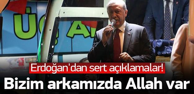 Erdoğan baba ocağında konuştu