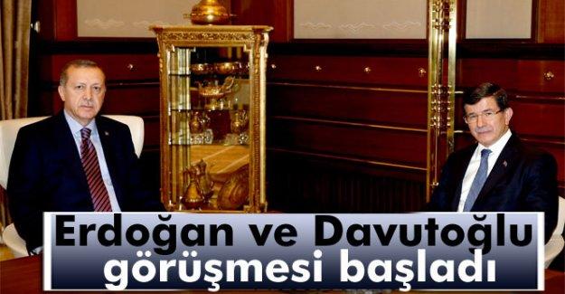 Erdoğan ile Davutoğlu görüşmesi başladı