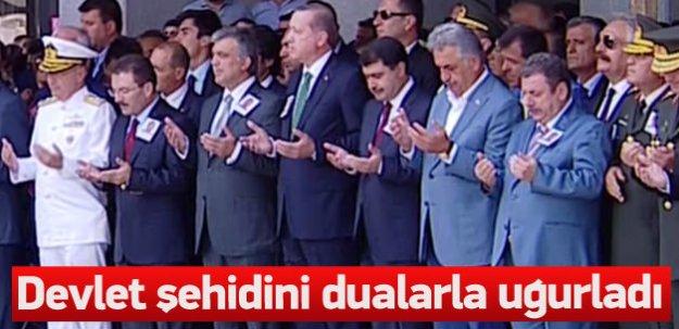 Erdoğan şehit Çeken'in cenaze törenine katıldı