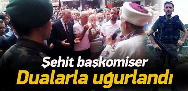 Erdoğan şehit cenazesine katıldı