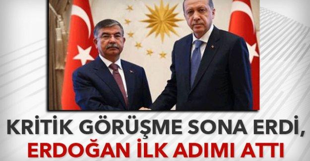 Erdoğan, Yılmaz görüşmesi sona erdi