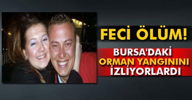 Feci ölüm! Bursa'daki orman yangınını izliyorlardı