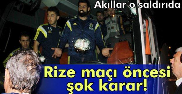 Fenerbahçe, Rize'den dönüş programını değiştirdi