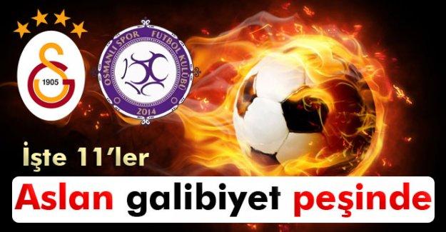 Galatasaray-Osmanlıspor maçının 11'leri