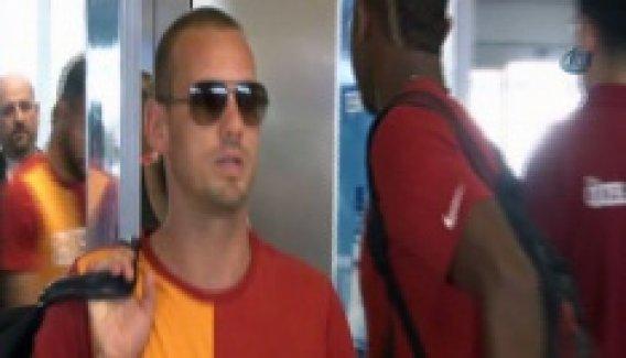 Galatasaray Süper Kupa için Ankara'ya uçtu