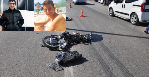 Hafriyat kamyonları motosikletli gençlere çarptı: 2 ölü