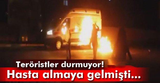 Hasta almaya gelen ambulansa saldırdılar!