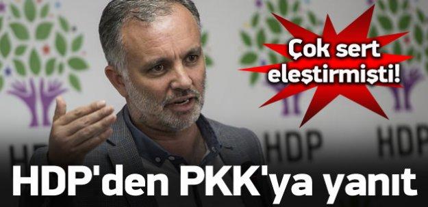 HDP'den PKK'ya cevap geldi