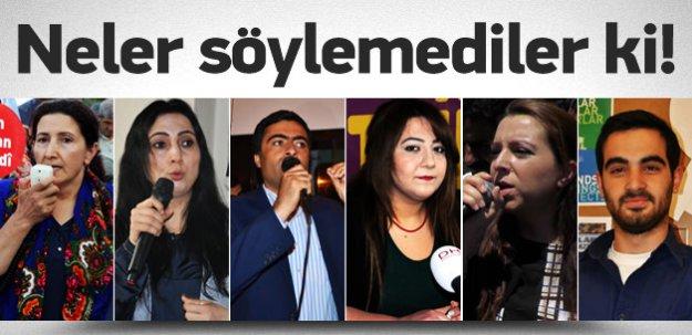 HDP'den PKK'yı destekleyen açıklamalar