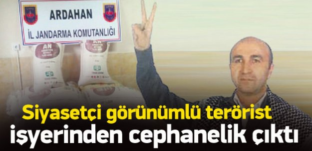 HDP'li başkan adayı Tekin'in iş yeri cephanelikmiş